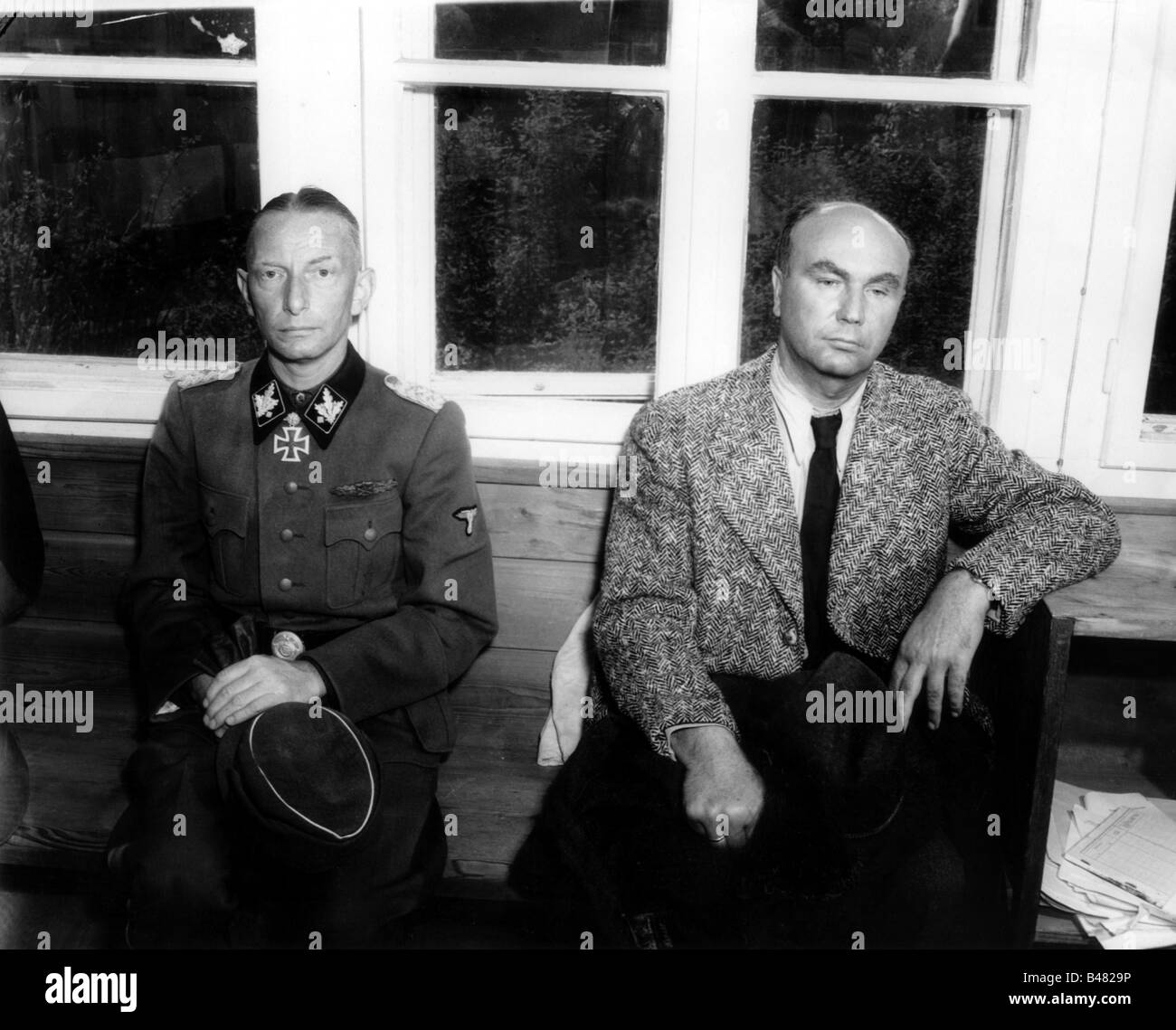 events, Second World War / WWII, Austria, end of war, SS Gruppenfuehrer Heinz Reinefarth and the Reich Governor Stock Photo