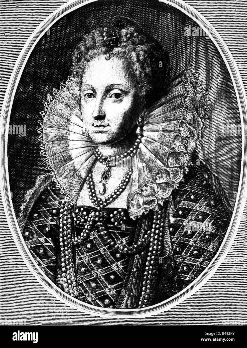 Elizabeth I, 7.9.1533 - 24.3.1603, Queen of England since 17.11.1558, portrait, copper engraving, circa 16th century, - Stock Image