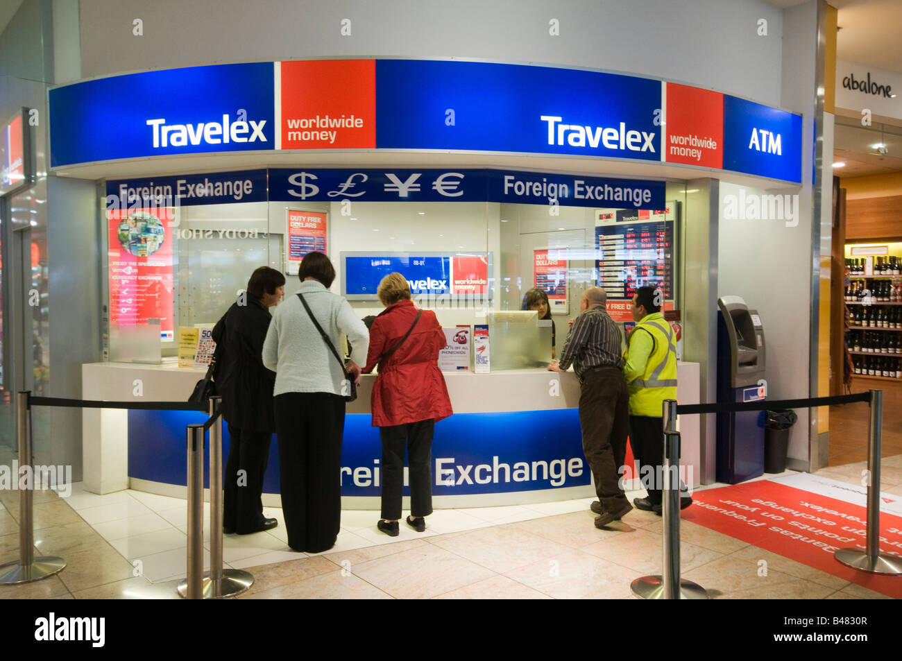 Travelex Foreign Exchange Counter At Melbourne Airport