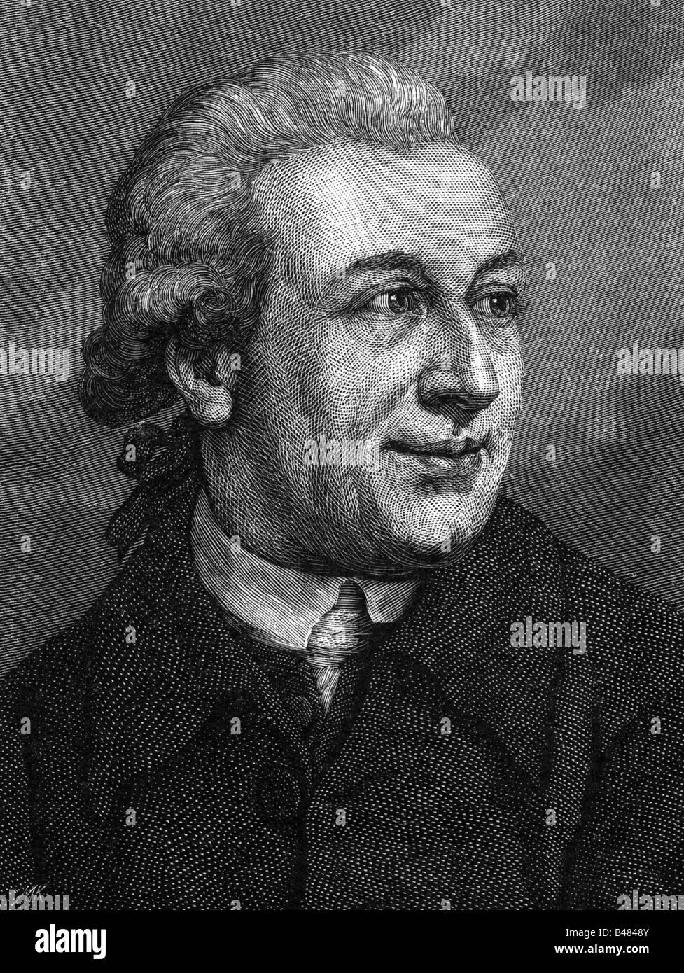 Forster, Johann Reinhold, 22.10.1729 - 9.12.1798, German naturalist, portrait, wood engraving, 19th century, , Additional - Stock Image