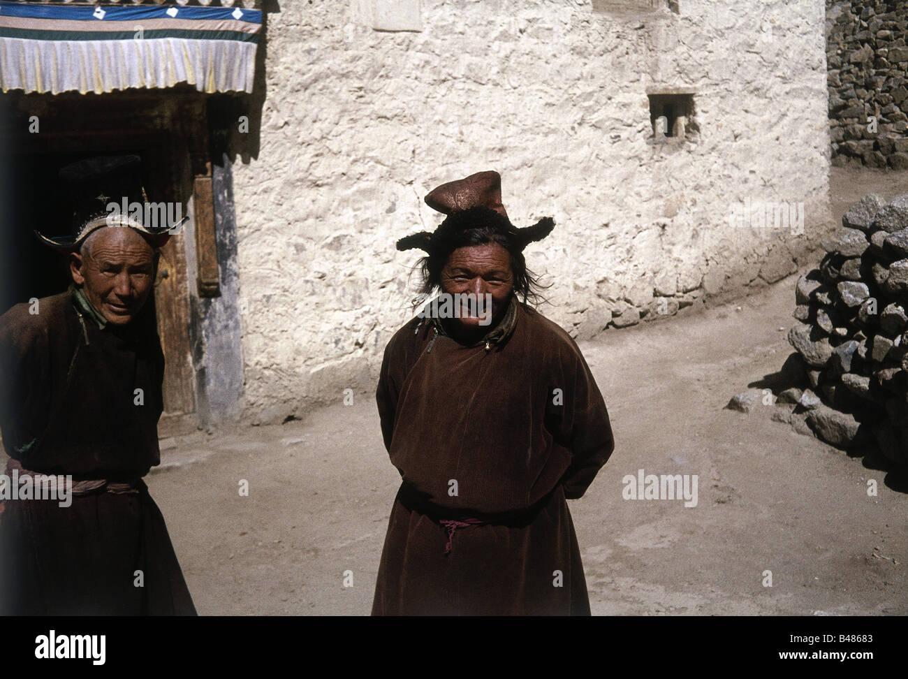 people, ethnology, couple / couples, India, Ladakh, 1977, Additional-Rights-Clearances-NA - Stock Image