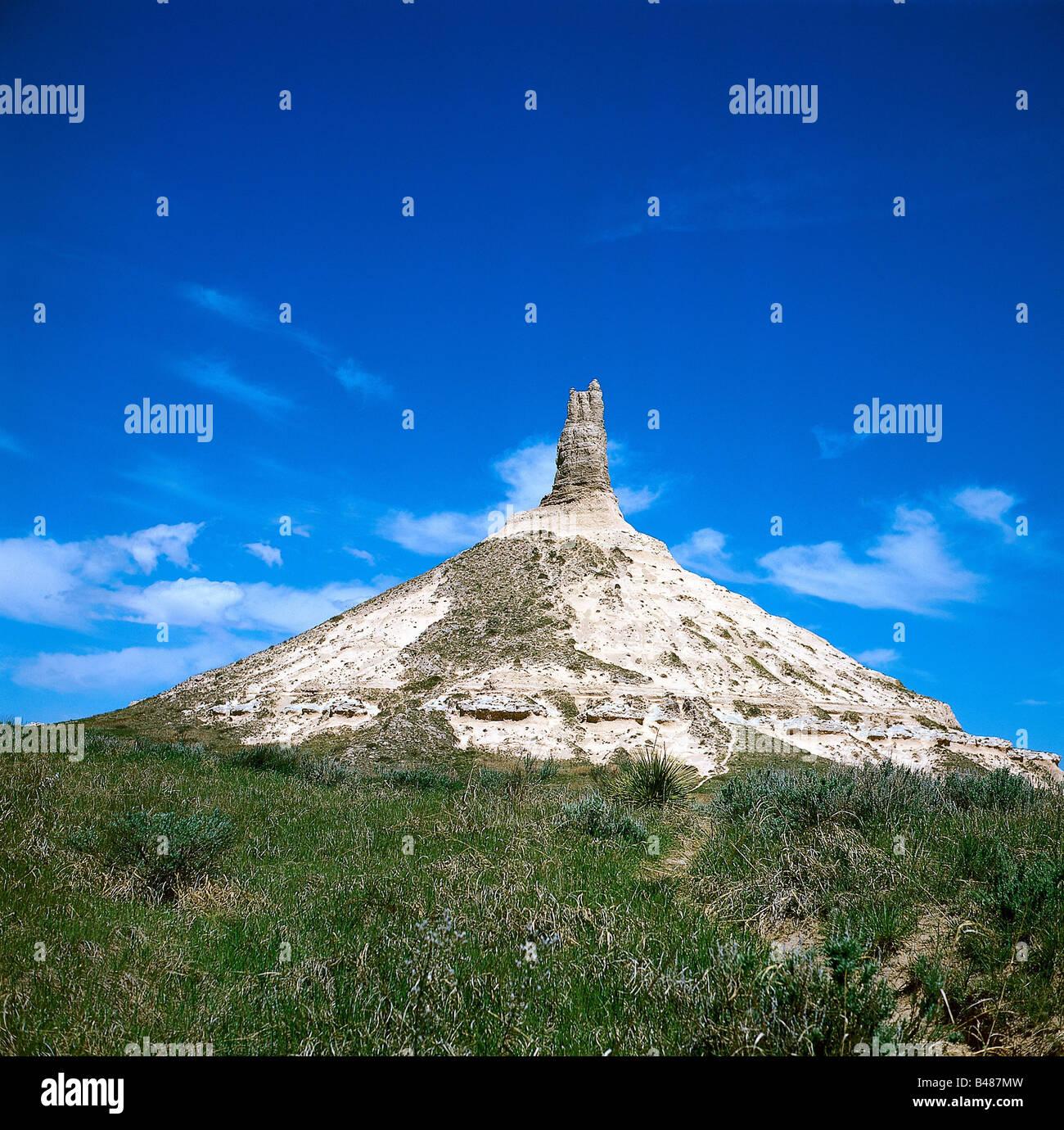Travel Geography: Chimney Rock Nebraska Stock Photos & Chimney Rock Nebraska