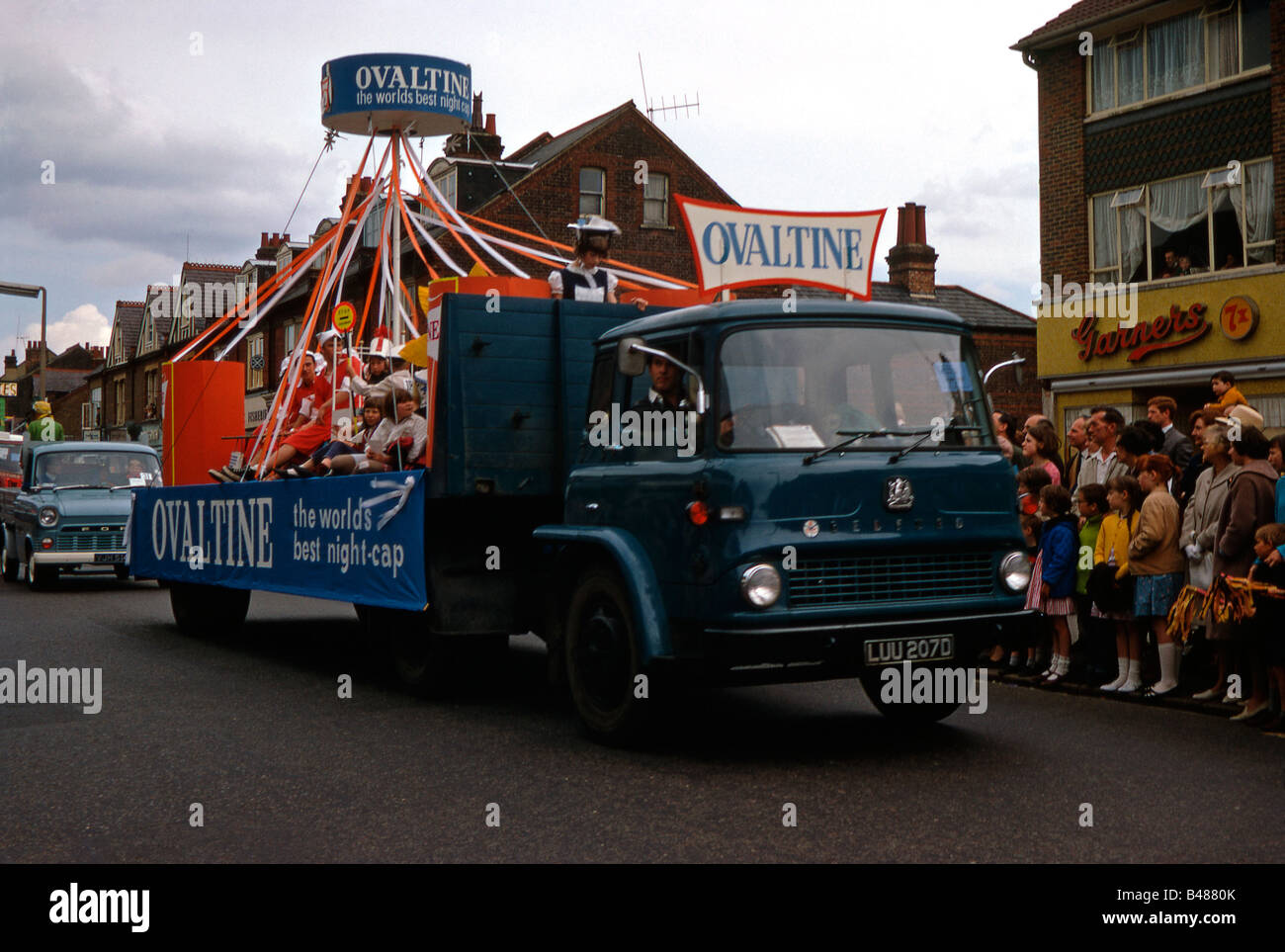 1960s Lorry Stock Photos Images Alamy 19601970 Mercedes Benz Trucks Truck Advertising Ovaltine In Watford Whitsun Carnival Parade St Albans Road 1967