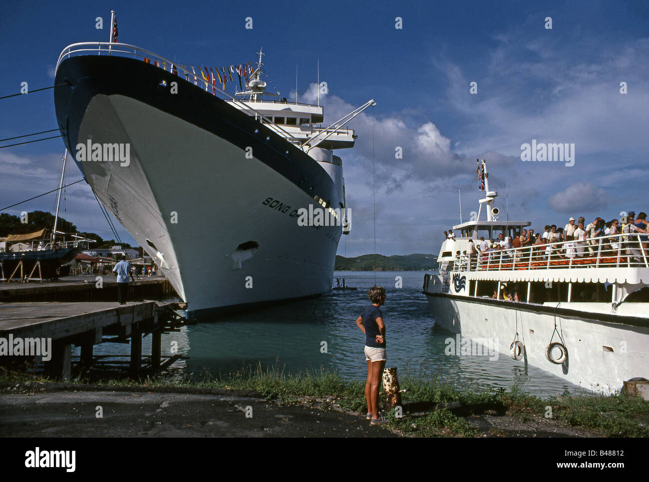 Cruise Ship MS Song Of Norway Docked Virgin Islands 1980