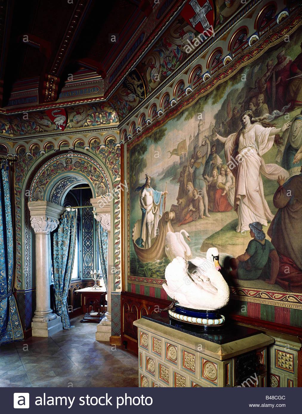 travel and tourism: Neuschwanstein Castle Inside View