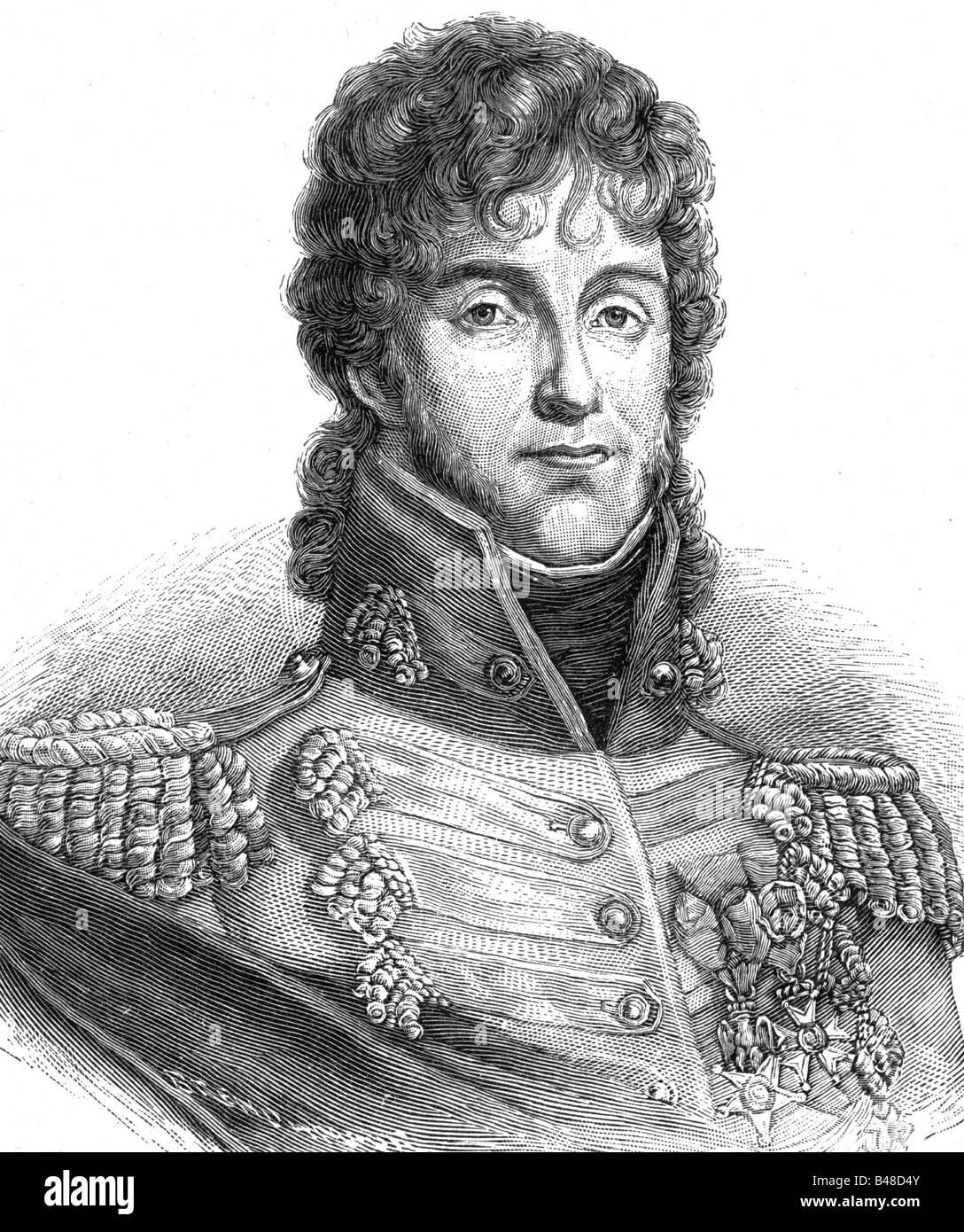 Murat, Joachim, 25.3.1771 - 13.10.1815, French general, portrait, steel engraving by C. E.Weber, 19th century, , - Stock Image