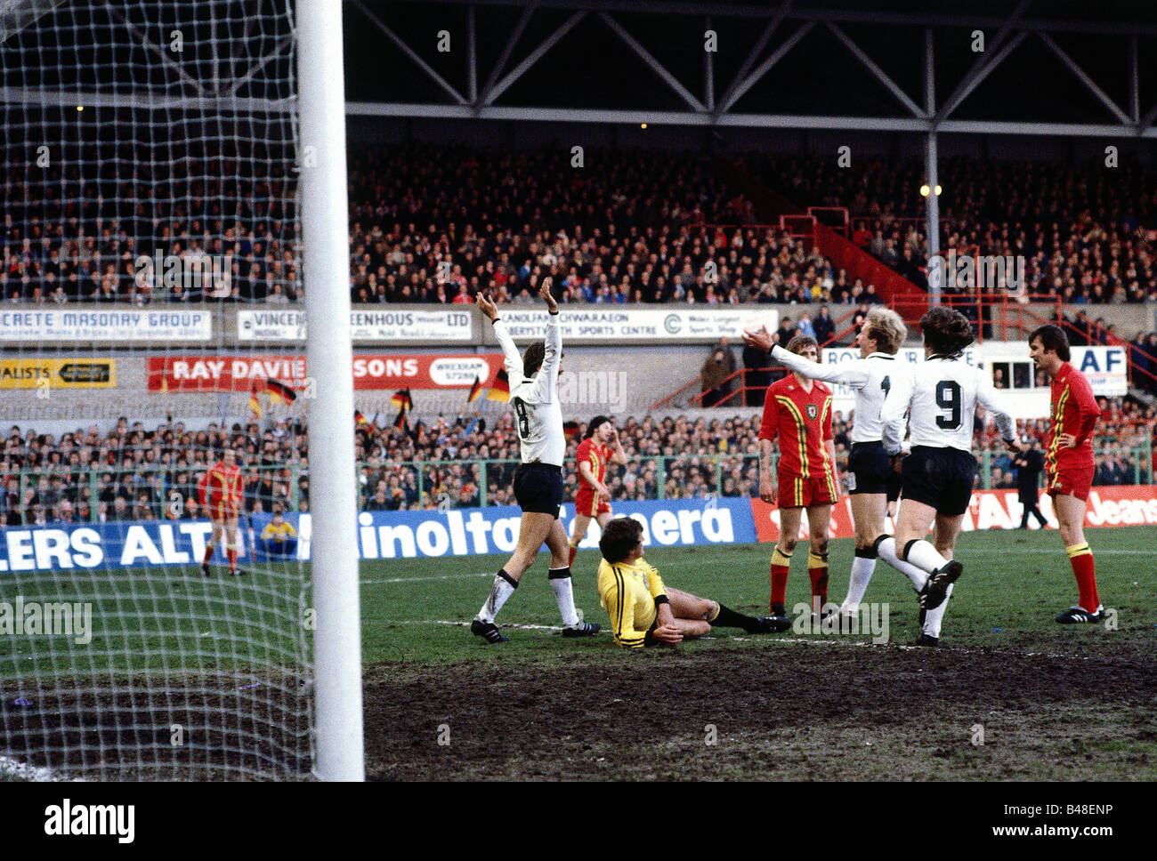 Sport / Sports, soccer, football, European championship qualification, Wales against Germany in Wrexham, Wales (0:2), - Stock Image