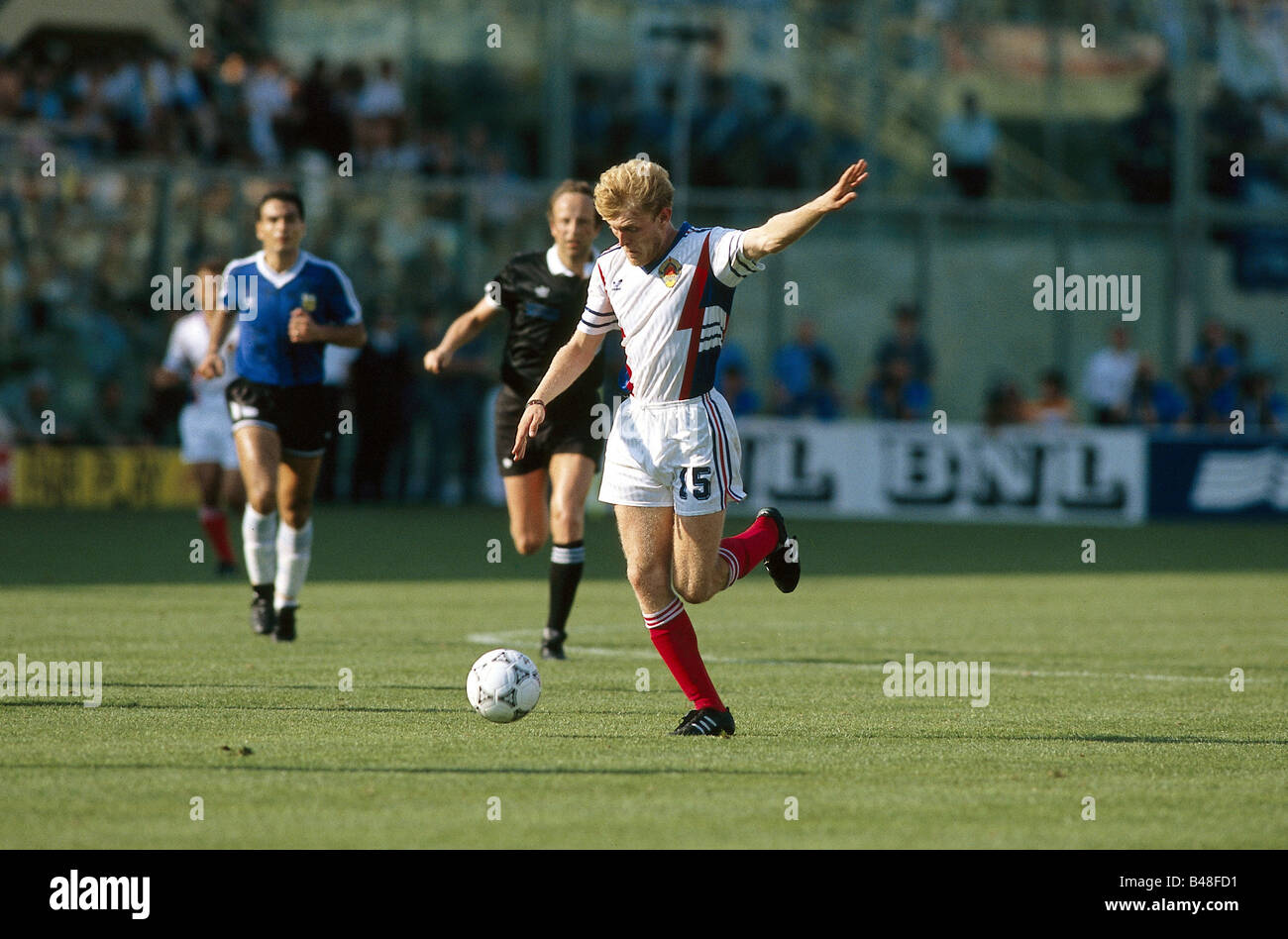 Sport / Sports, soccer, football, World Cup 1990, final round, quarter-finals, Yugoslavia against Argentina, (2:3) - Stock Image