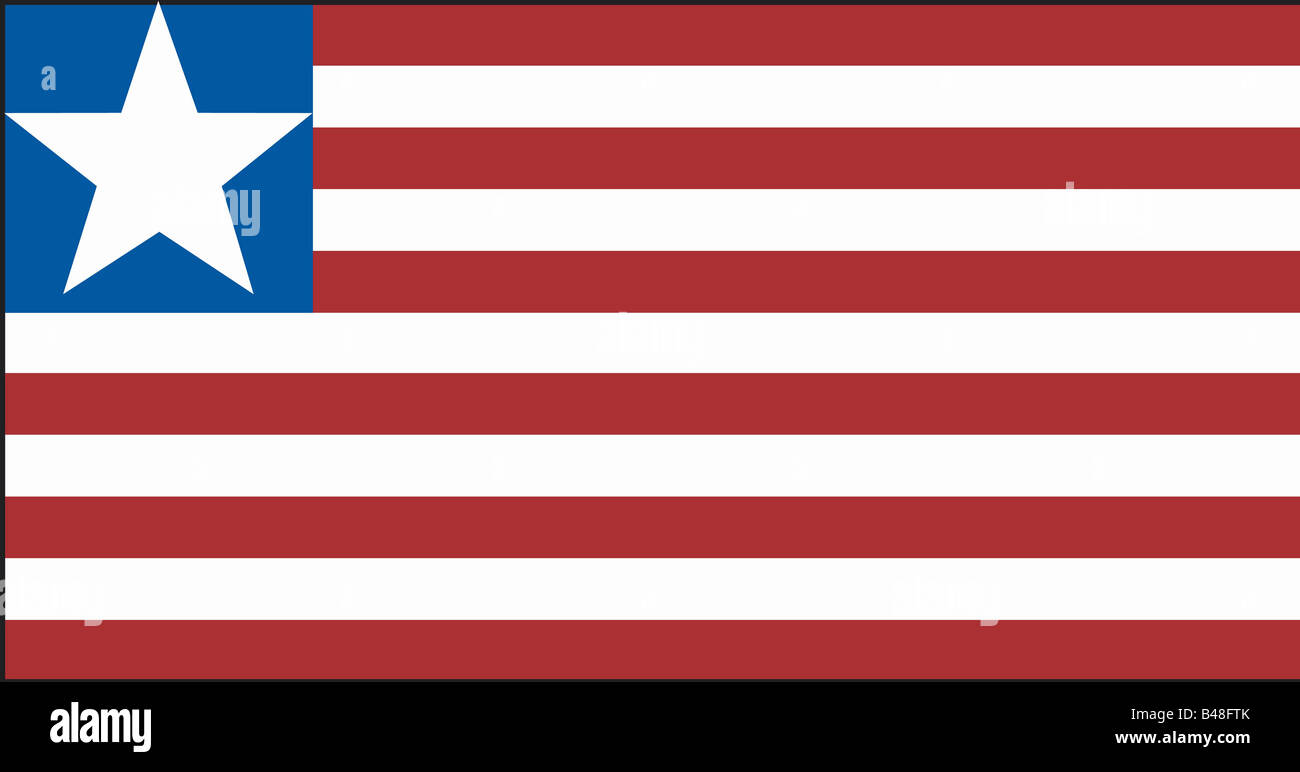 heraldry, emblem, Liberia, national flag, introduced: 26.7.1847, Additional-Rights-Clearance-Info-Not-Available - Stock Image