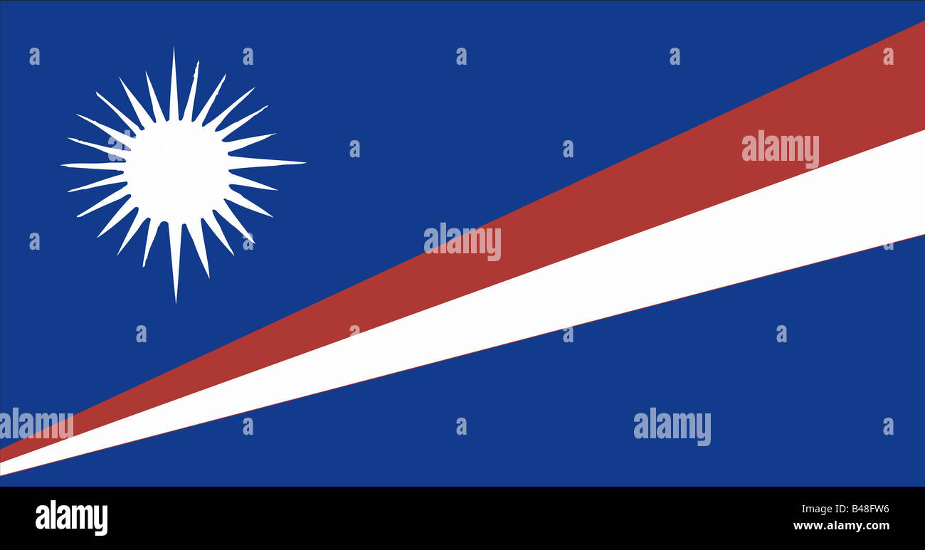 heraldry, emblem, Marshall Islands, national flag, introduced: 1.5.1979, Additional-Rights-Clearance-Info-Not-Available - Stock Image