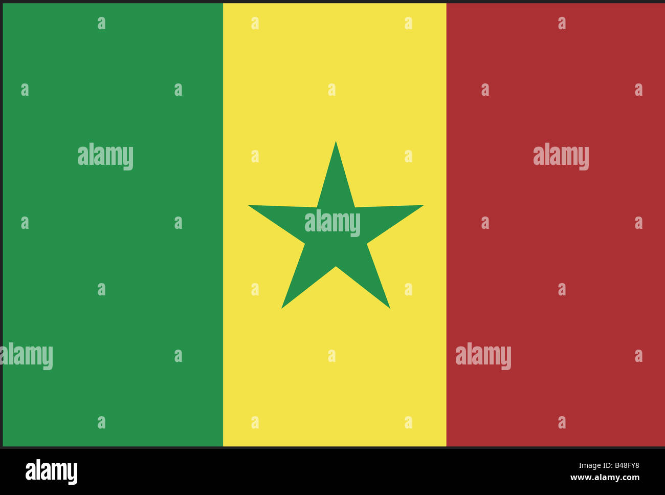 heraldry, emblem, Senegal, national flag, introduced: 1960, Additional-Rights-Clearance-Info-Not-Available - Stock Image