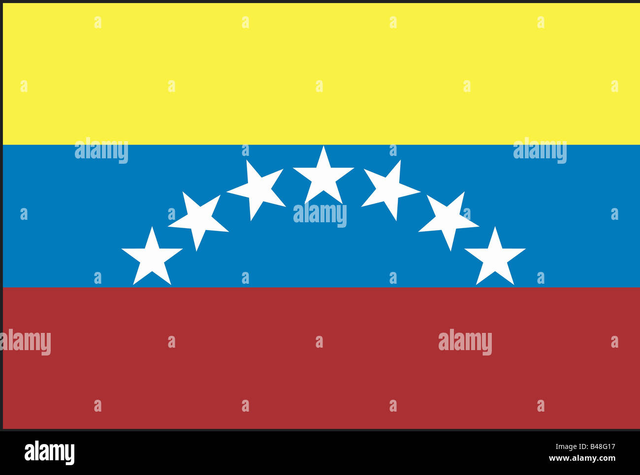 heraldry, emblem, Venezuela, national flag, introduced: 1930, Additional-Rights-Clearance-Info-Not-Available - Stock Image