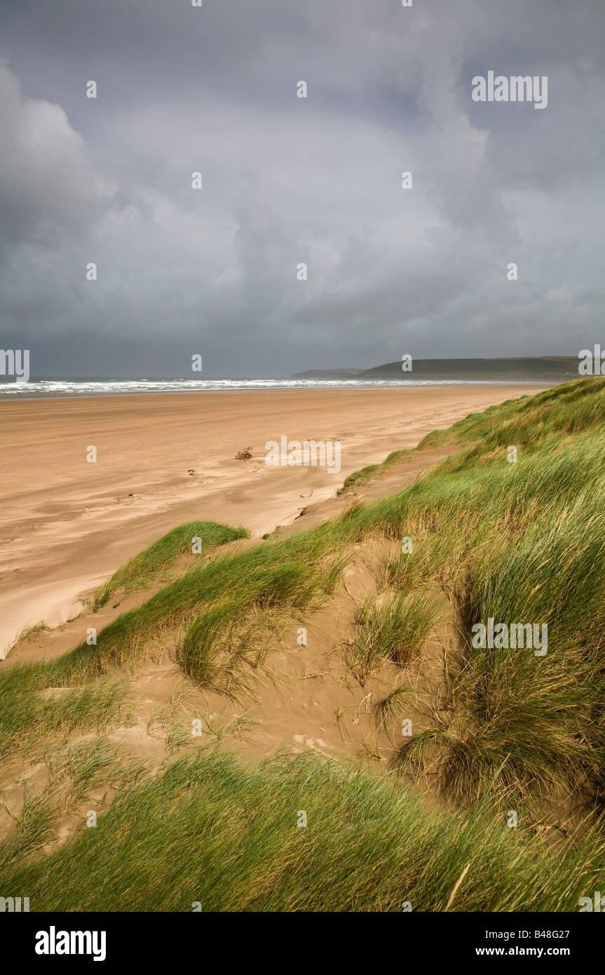 beach and sand dunes as braunton burrows Stock Photo