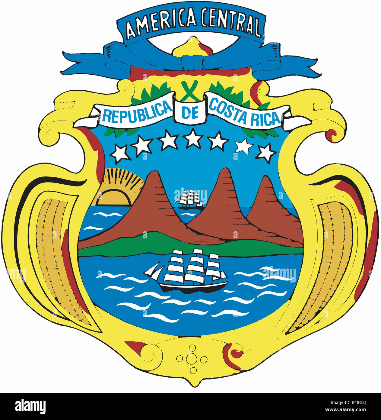 Heraldry Coat Of Arms Costa Rica National Coat Of Arms Launched