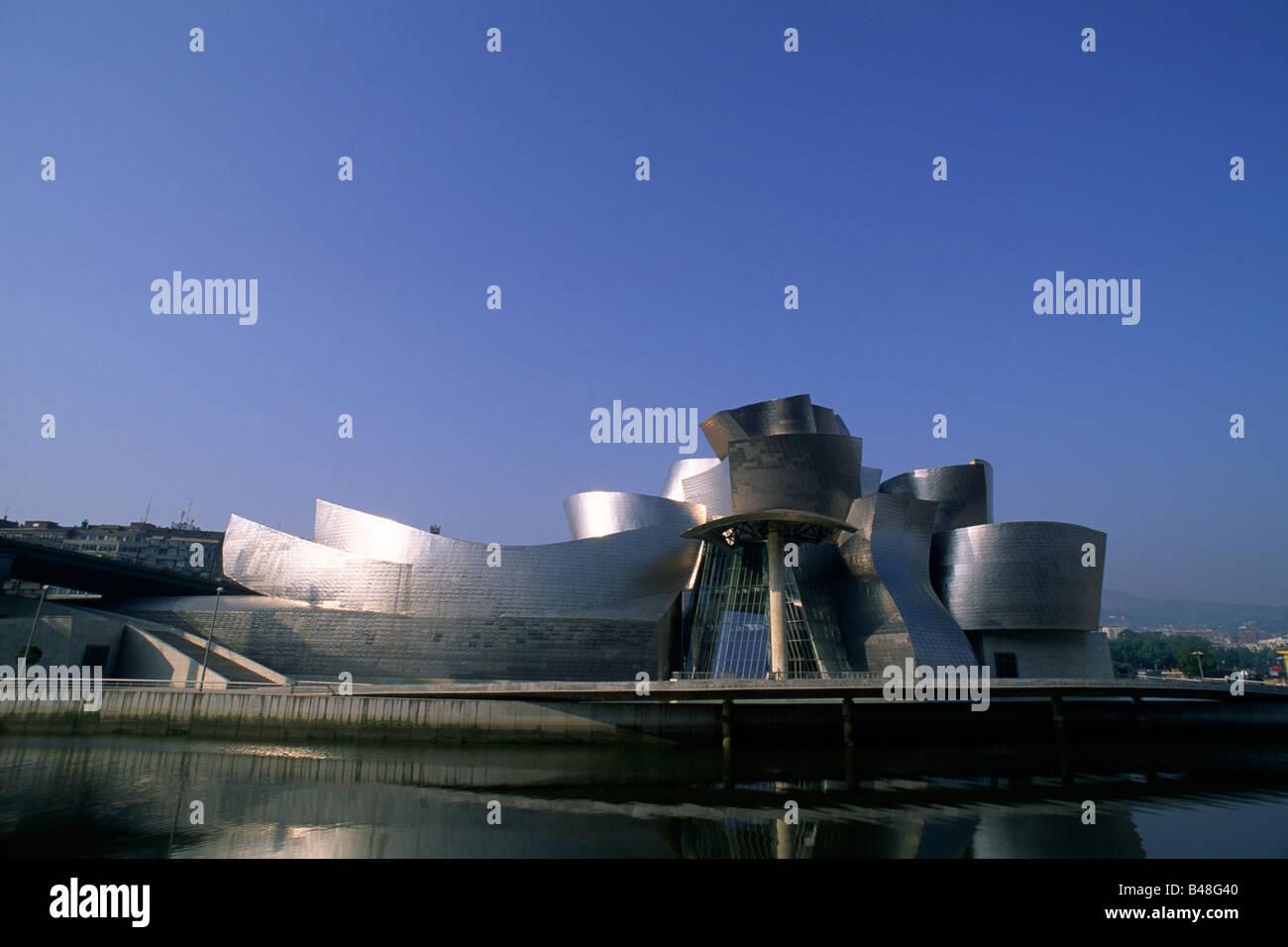 spain, bilbao, guggenheim museum, architect frank gehry - Stock Image