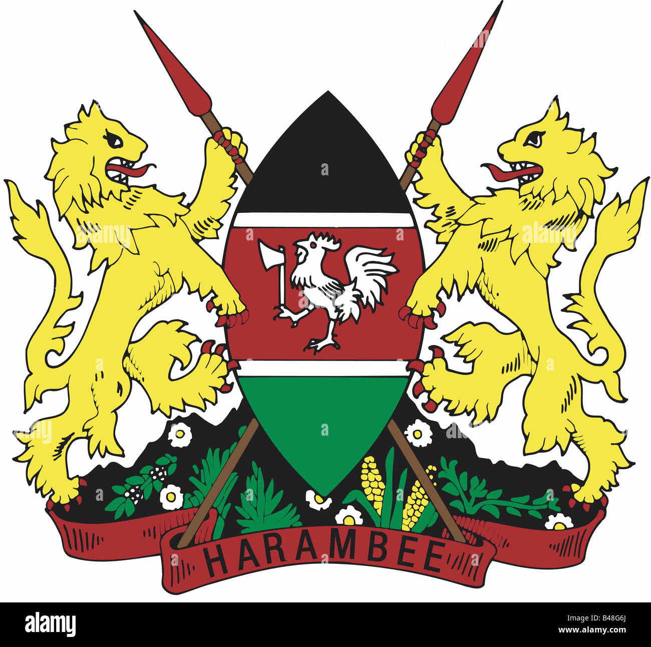 heraldry, coat of arms, Kenya, , Additional-Rights-Clearance-Info-Not-Available - Stock Image