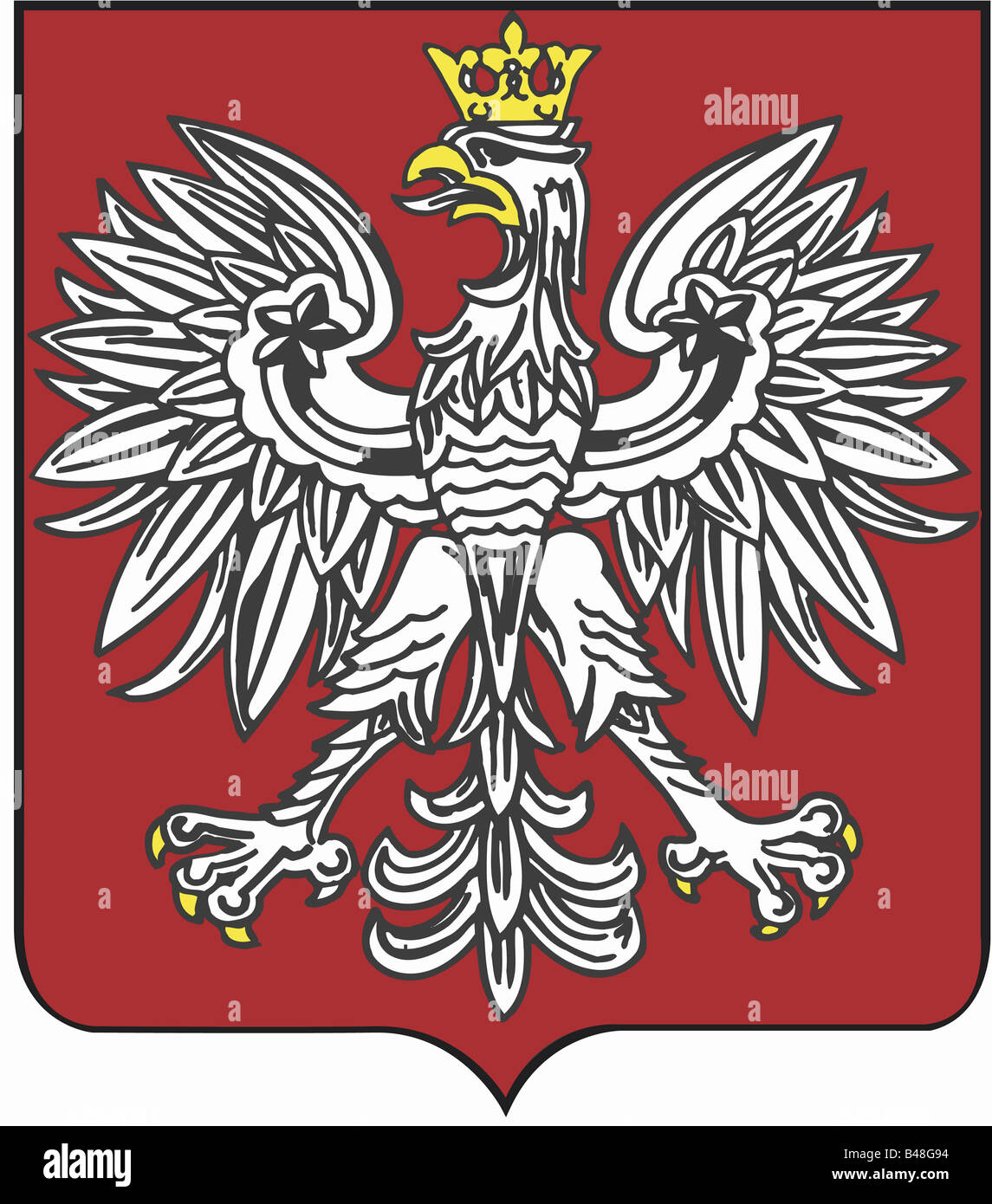 Heraldry Coat Of Arms Poland National Coat Of Arms Symbol Stock
