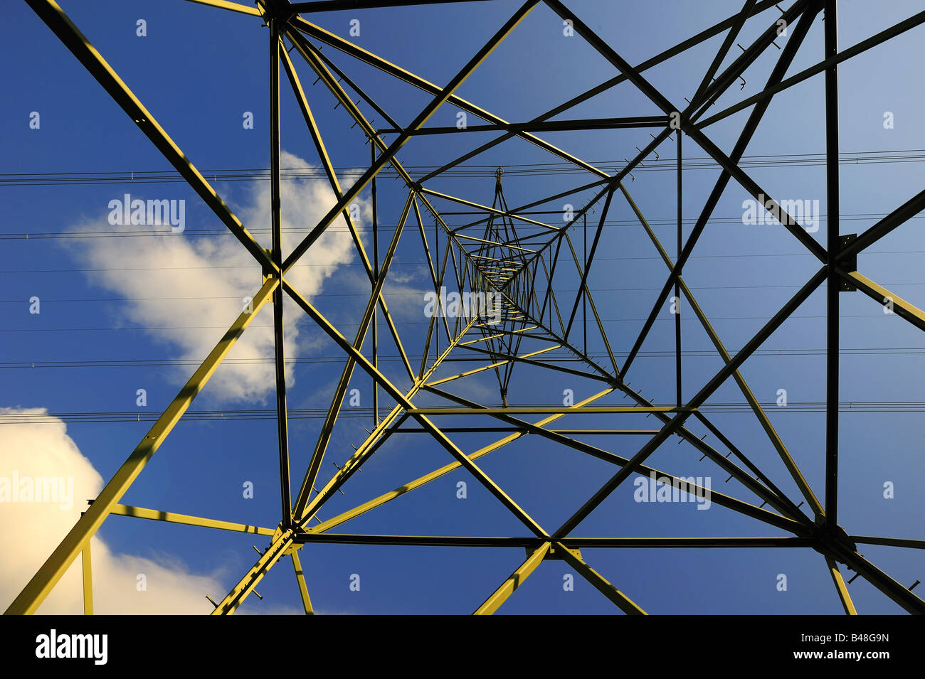 Pylon from below - Stock Image