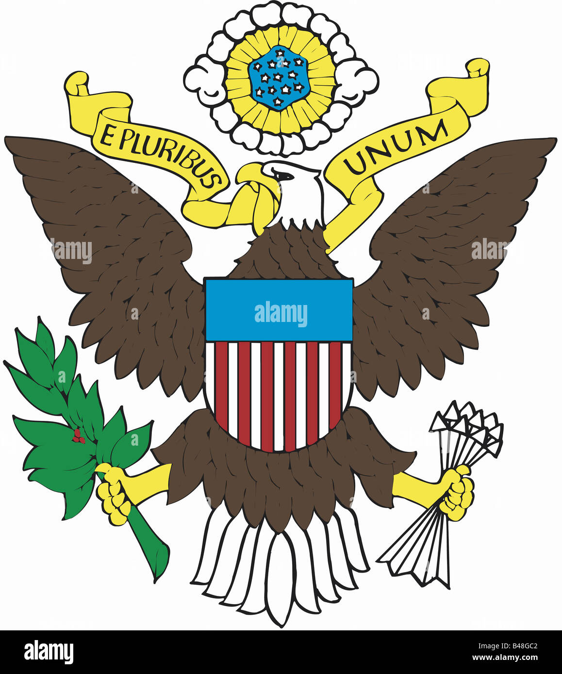 heraldry, coat of arms, United States of America (USA Stock