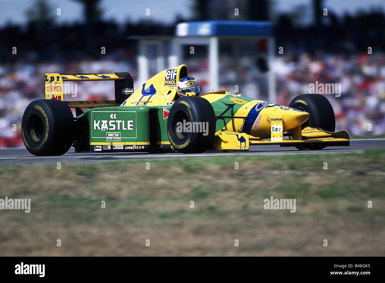 Schumacher, Michael, * 3.1.1969, German athlete (automobile racer), formula one race, Grand Prix Hockenheim, Germany, - Stock Image