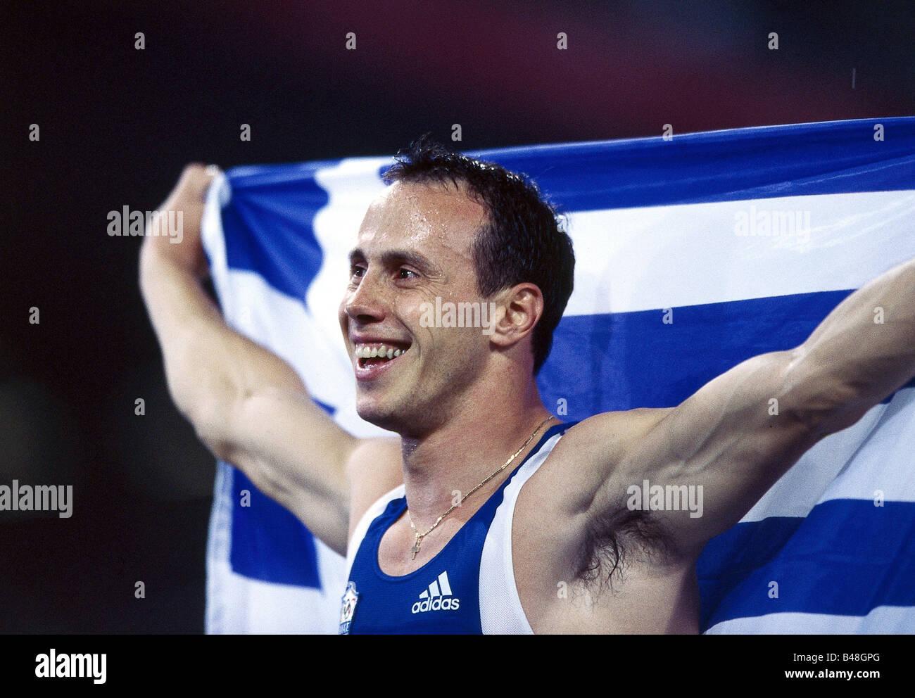 Konstantinos, Kenteris, * 11.7.1973, Greek athlete (athletics), portrait, Olympic Games, Sydney, 2000, Additional - Stock Image