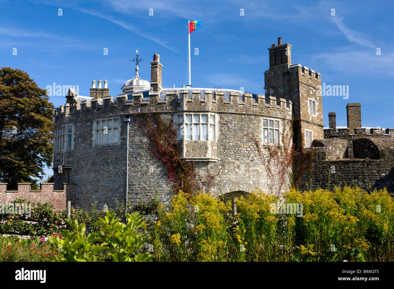 Walmer Castle and Gardens Stock Photo