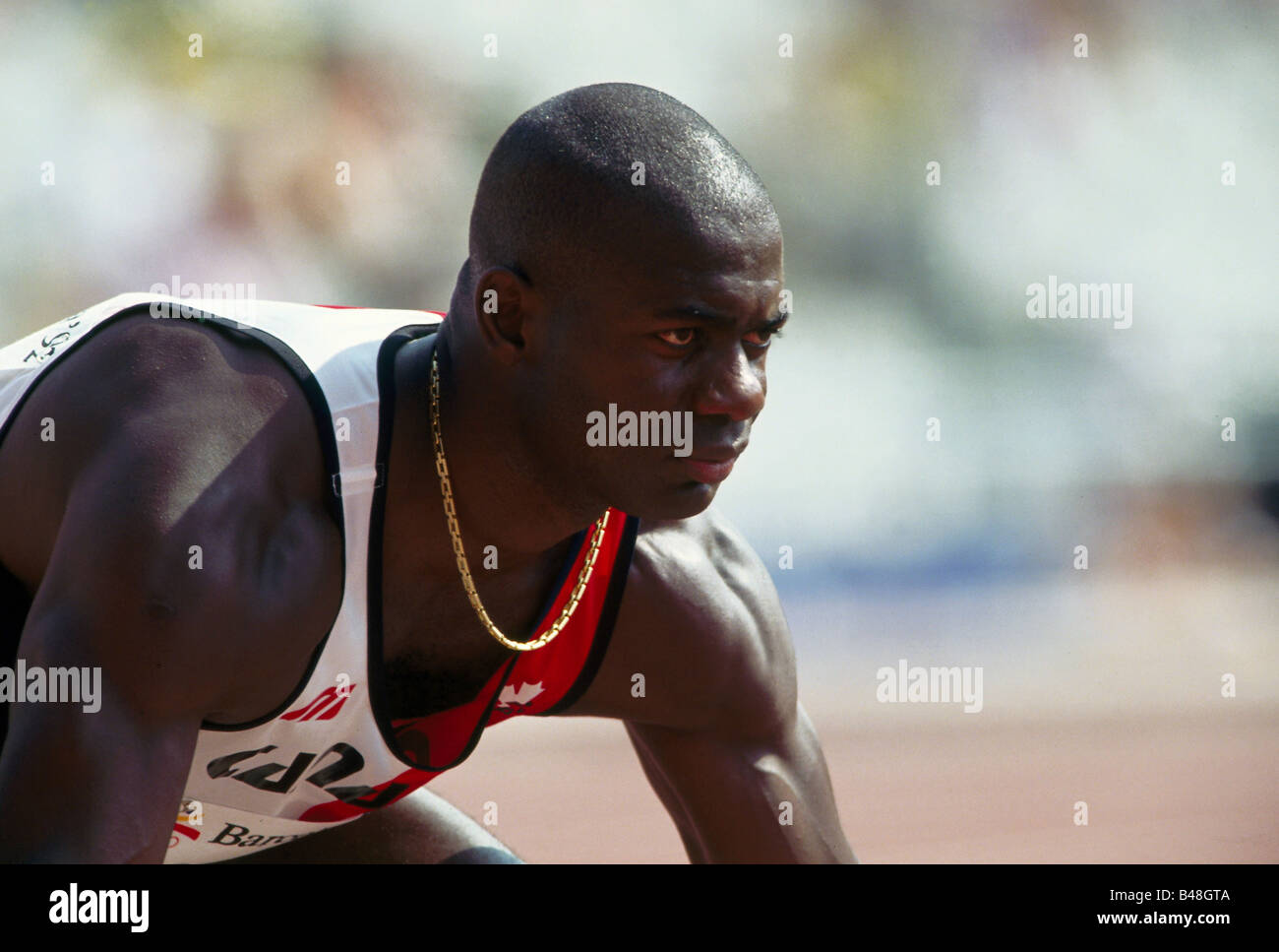 Johnson, Ben, * 30.12.1961, Canadian athlete (athletics), portrait, Olympic Games, Barcelona, 1992, Additional-Rights - Stock Image