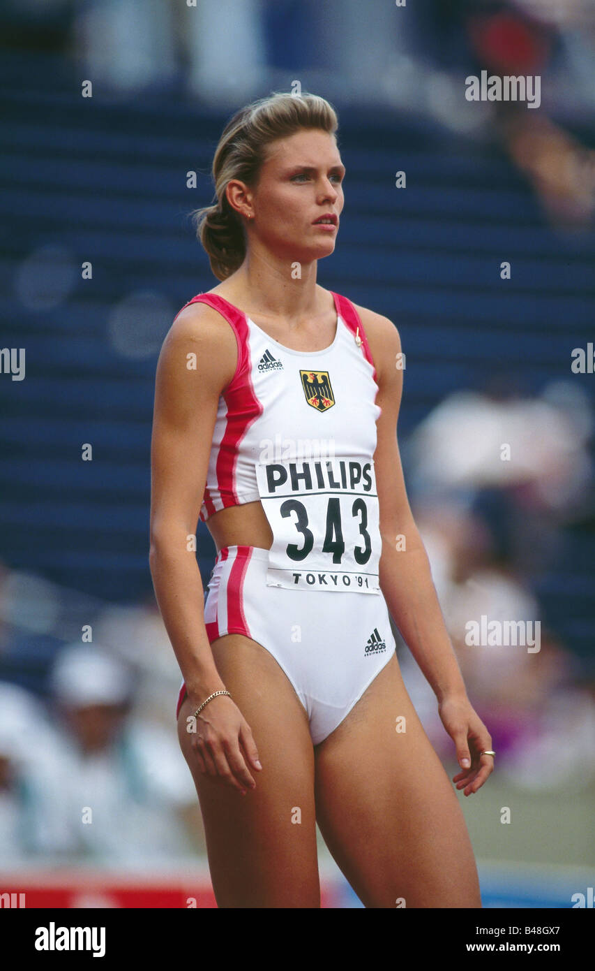 Krabbe, Katrin, * 22.11.1969, German athlete (athletics ...