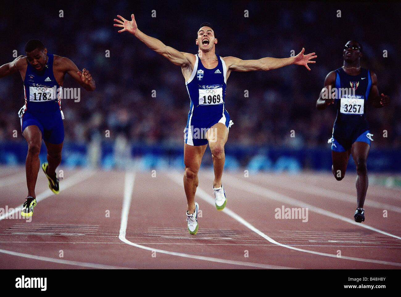 Konstantinos, Kenteris, * 11.7.1973, Greek athlete (athletics), full length, Olympic Games, Sydney, 2000, Additional - Stock Image