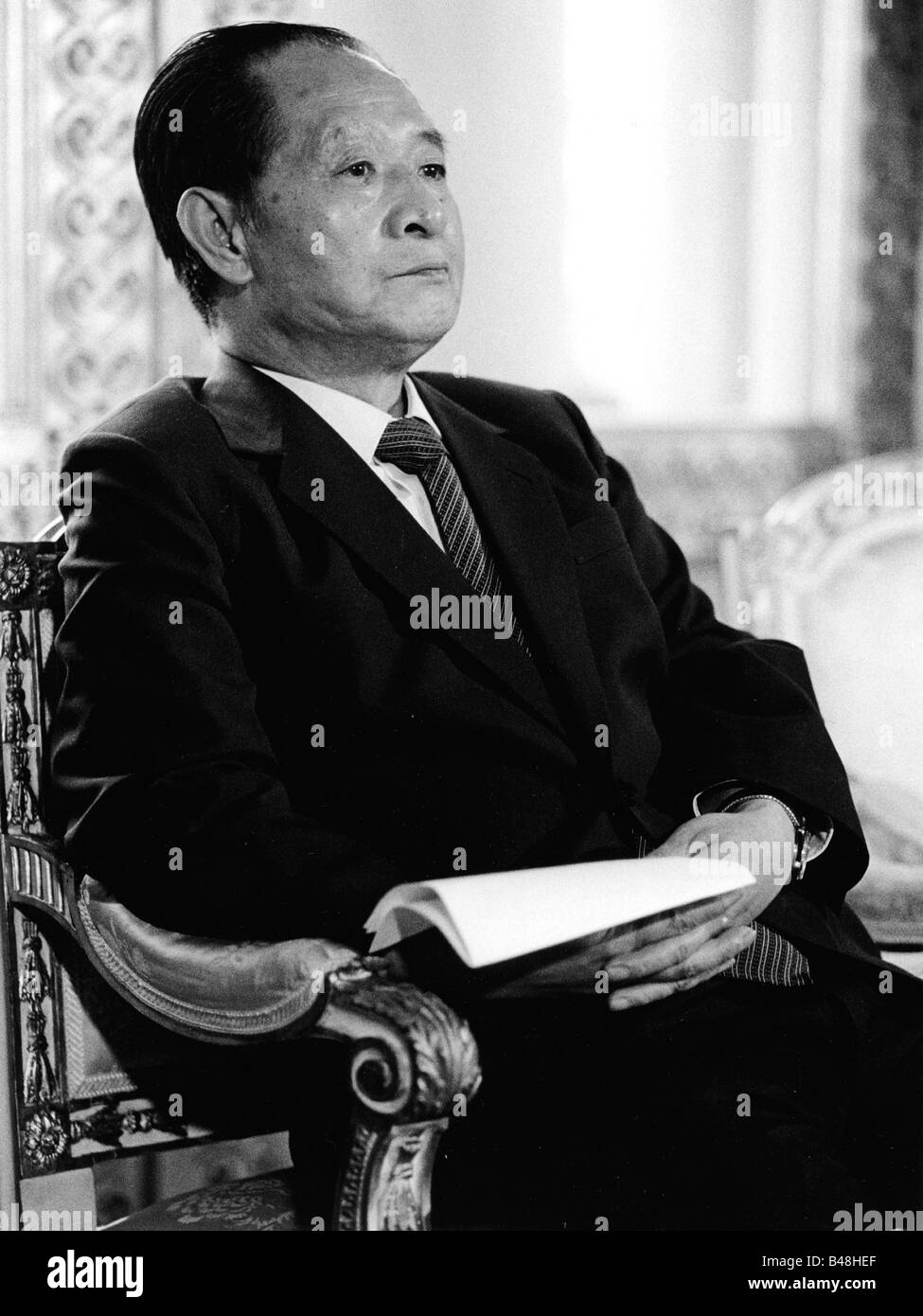 Hu Yaobang, 20.11.1915 - 15.4.1989, Chinese poltitician, 1980 - 1987 Premier of the State Council, half length, - Stock Image