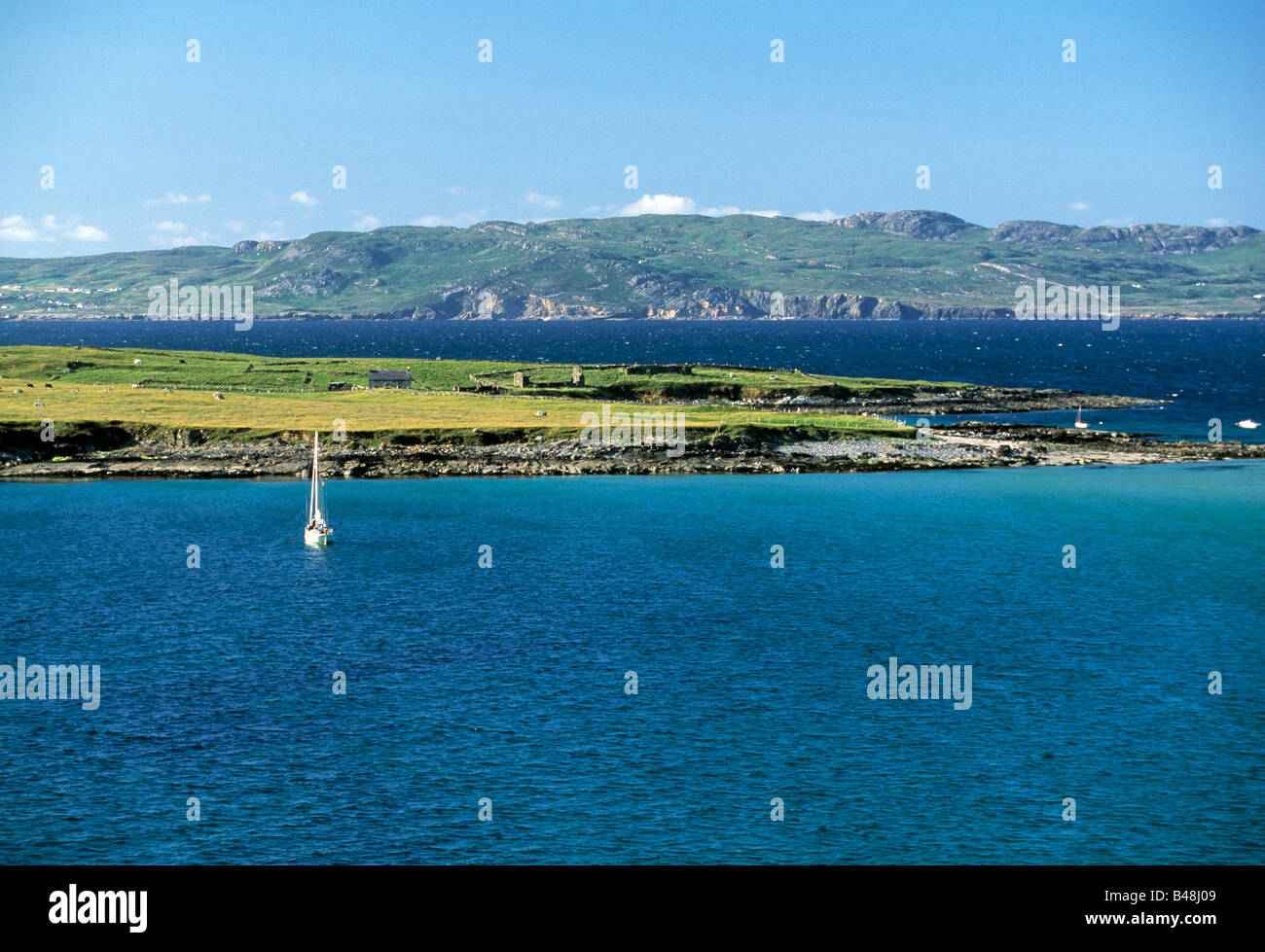 ballydonegan bay, wect cork, ireland, deep blue sea,  beauty in nature, - Stock Image