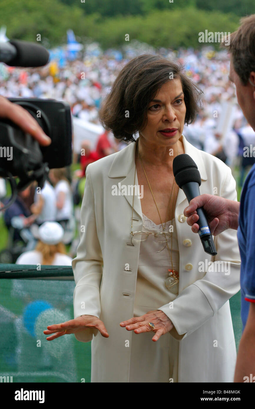 'Bianca Jagger' human rights activist, Edinburgh, Scotland UK. - Stock Image