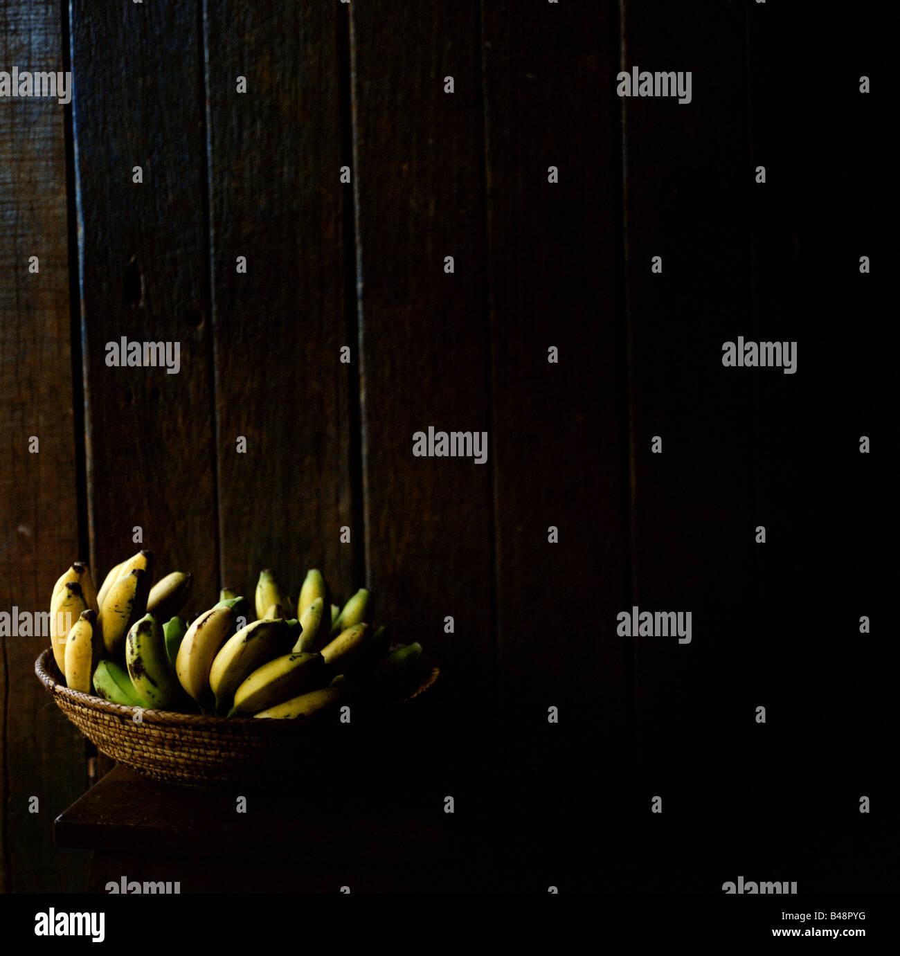 Bananas are a staple in Uganda. - Stock Image