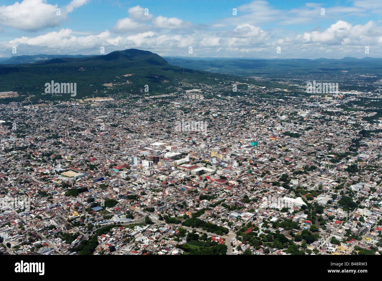 aerial above Tuxtla Gutierrez Chiapas Mexico - Stock Image