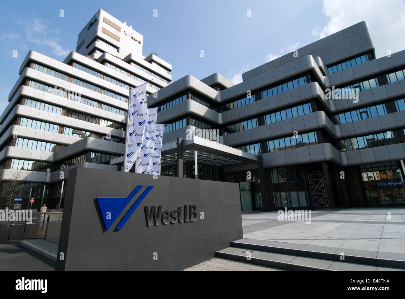 Headquarter of the West LB in Duesseldorf Germany - Stock Image