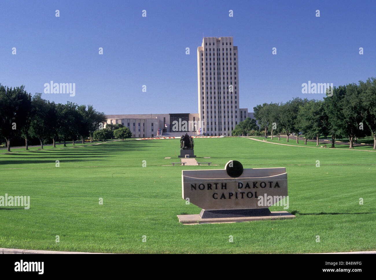 State Capitol building Bismarck North Dakota - Stock Image