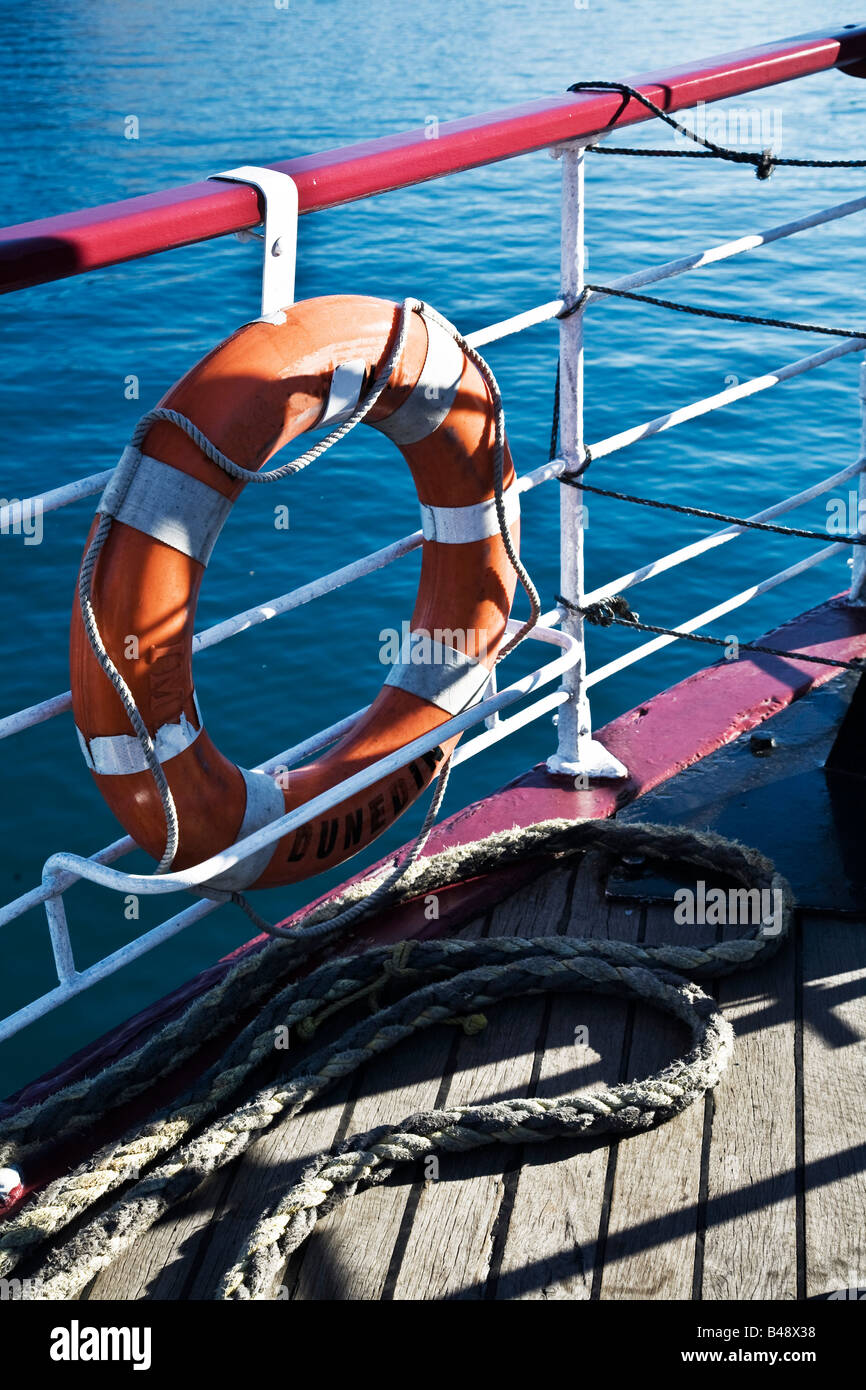 Life saver on a boat - Stock Image