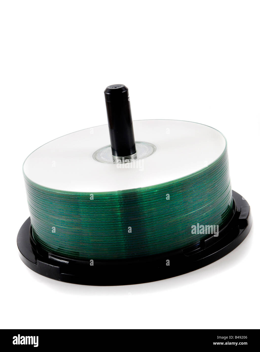 cds on spindle - Stock Image