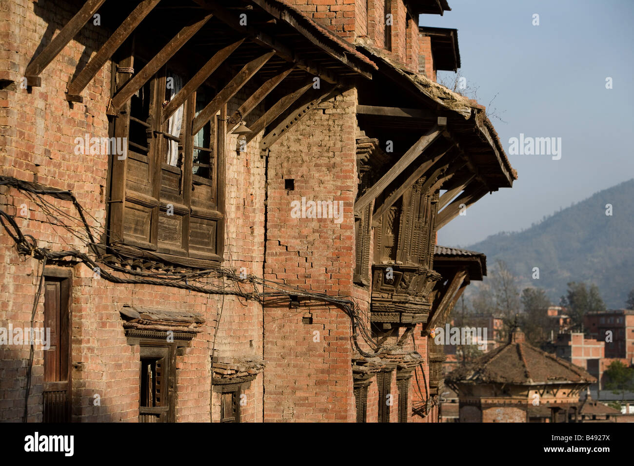 Ancient city of Bhaktapur Durbar Square, Nepal - Stock Image