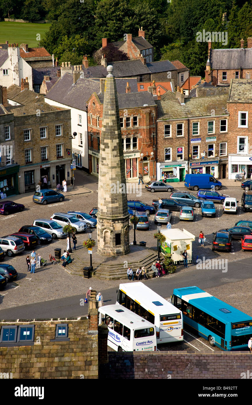 The Obelisk in the Market Place Richmond North Yorkshire Stock Photo