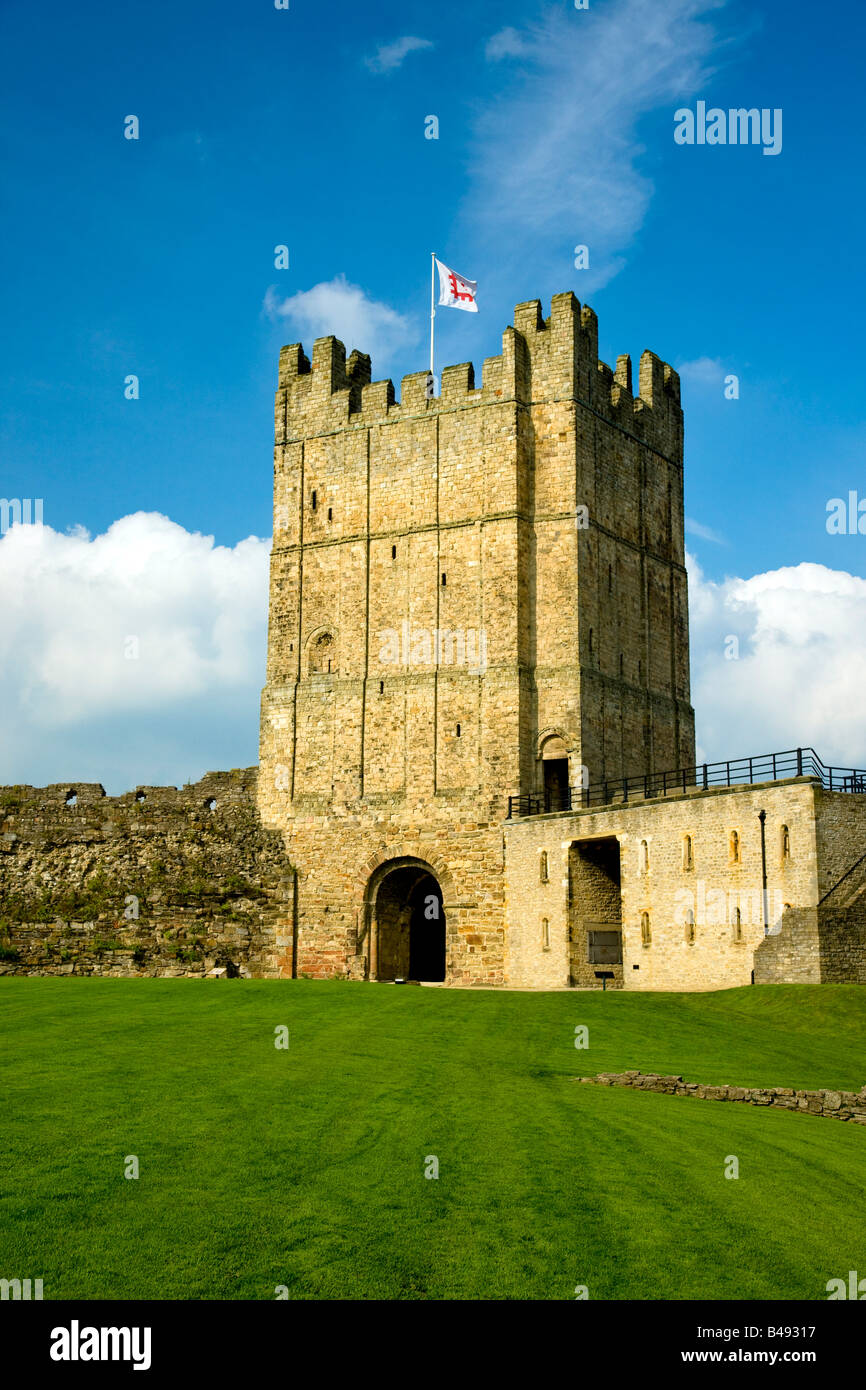 Richmond Castle Keep Richmond North Yorkshire Stock Photo