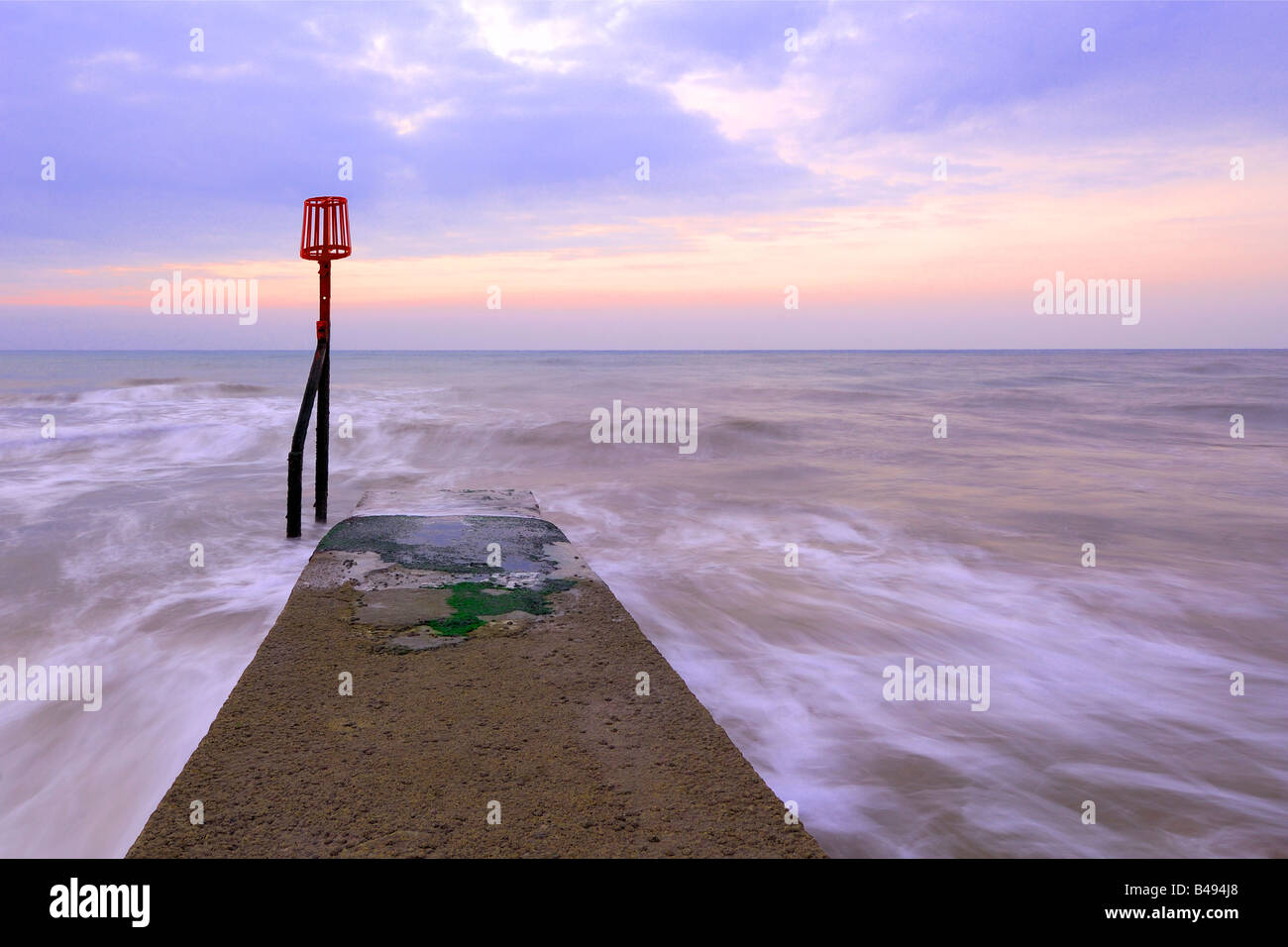 Sunrise from the beach - Stock Image