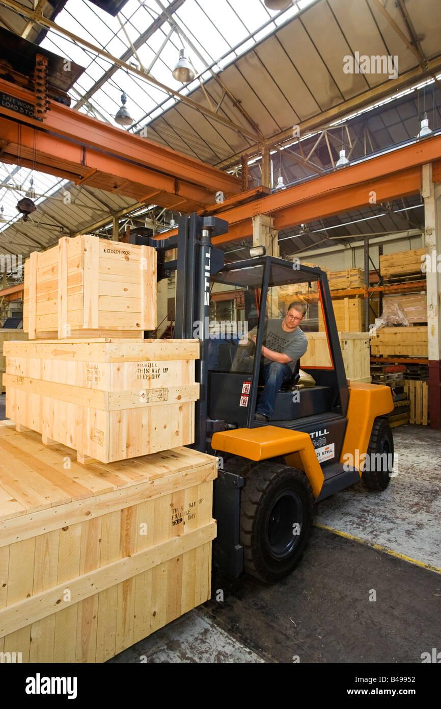 Forklift truck driver, UK Stock Photo