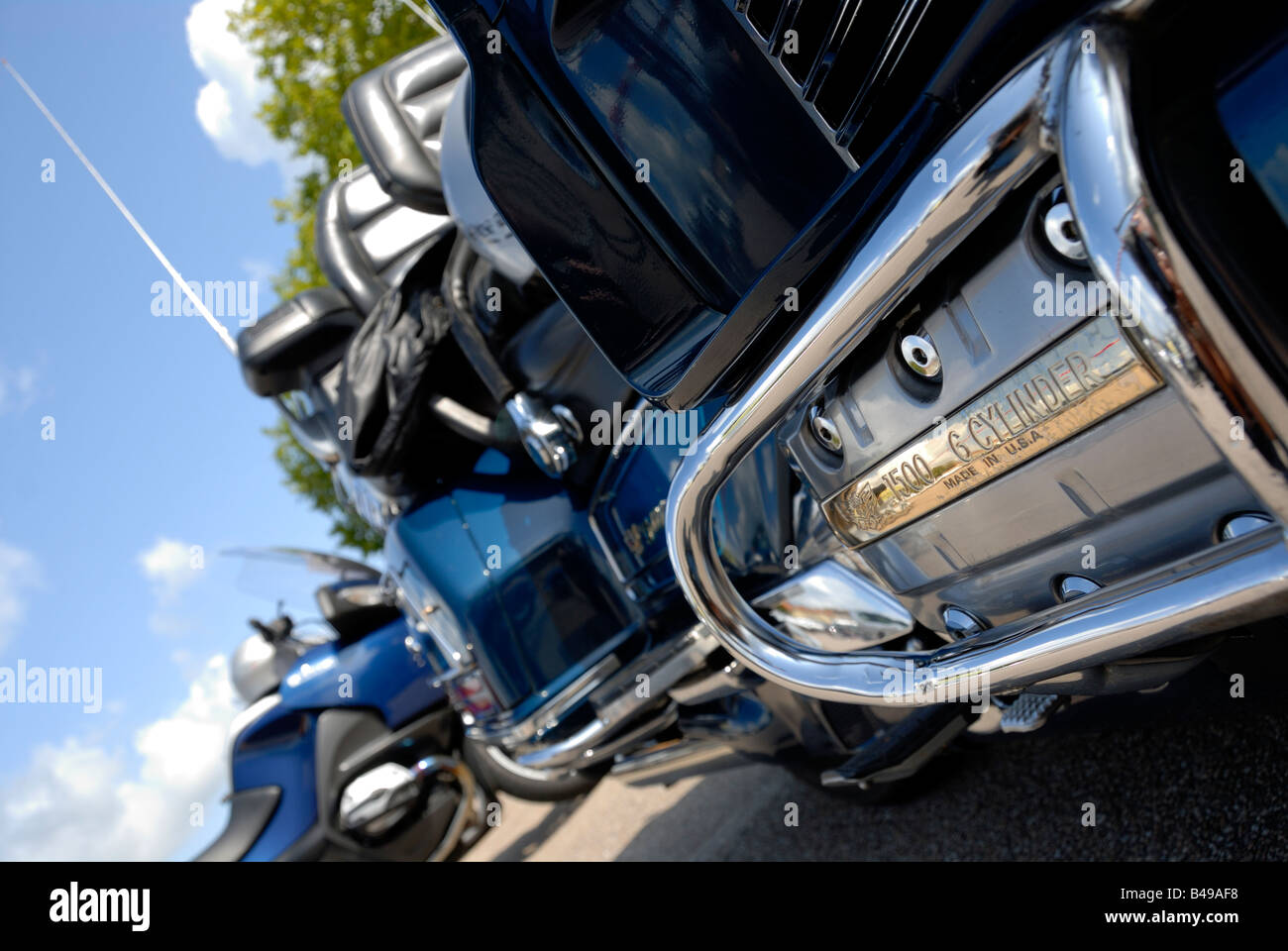 Stock photo of a Honda Goldwing 1500 - Stock Image