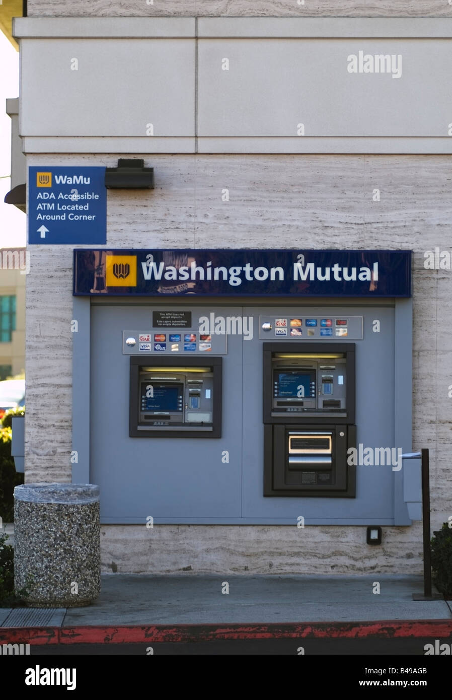 Washington Mutual (WaMu) ATM machine outside of a Branch in San Jose, CA. Stock Photo