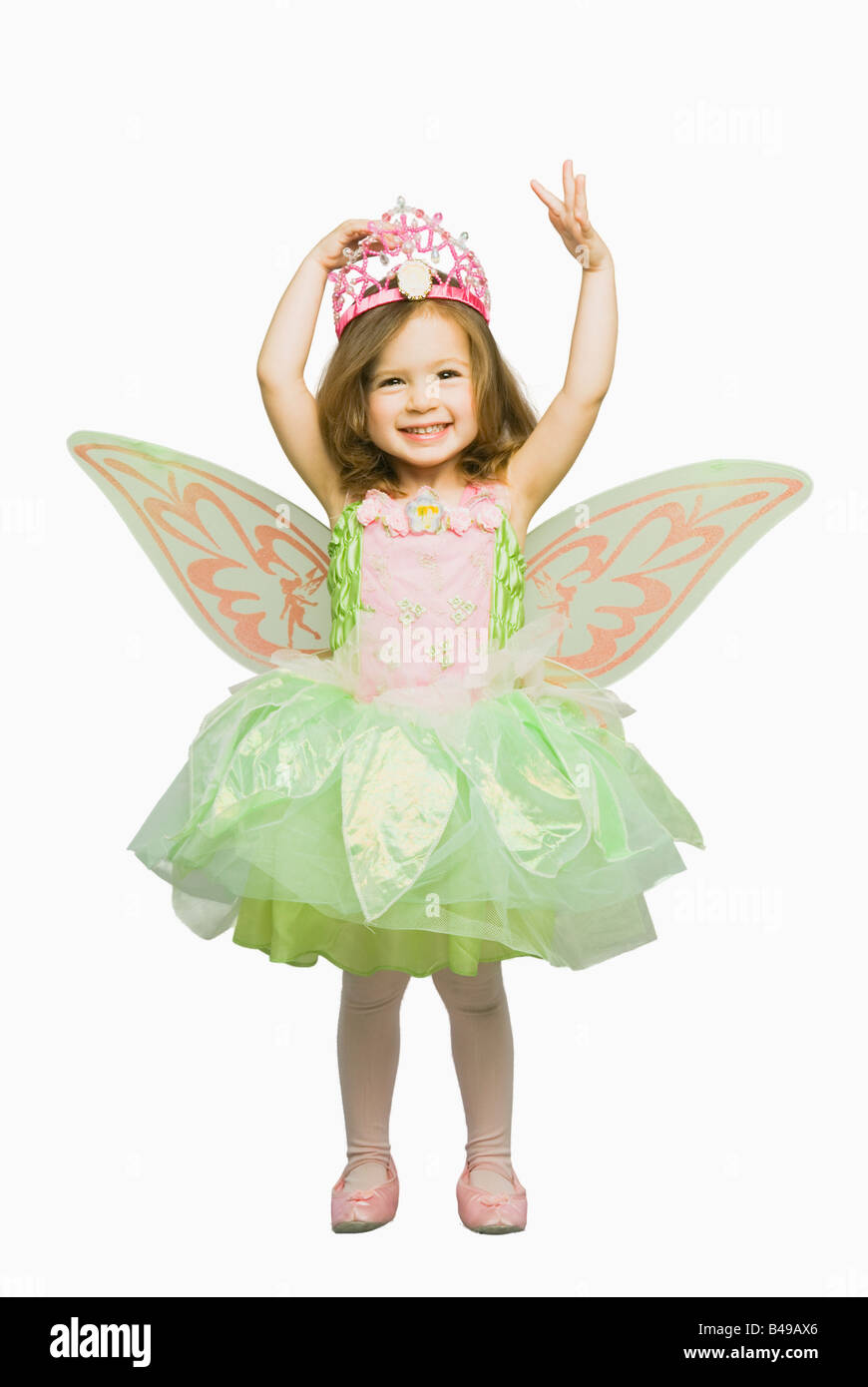 Girl in fairy outfit - Stock Image