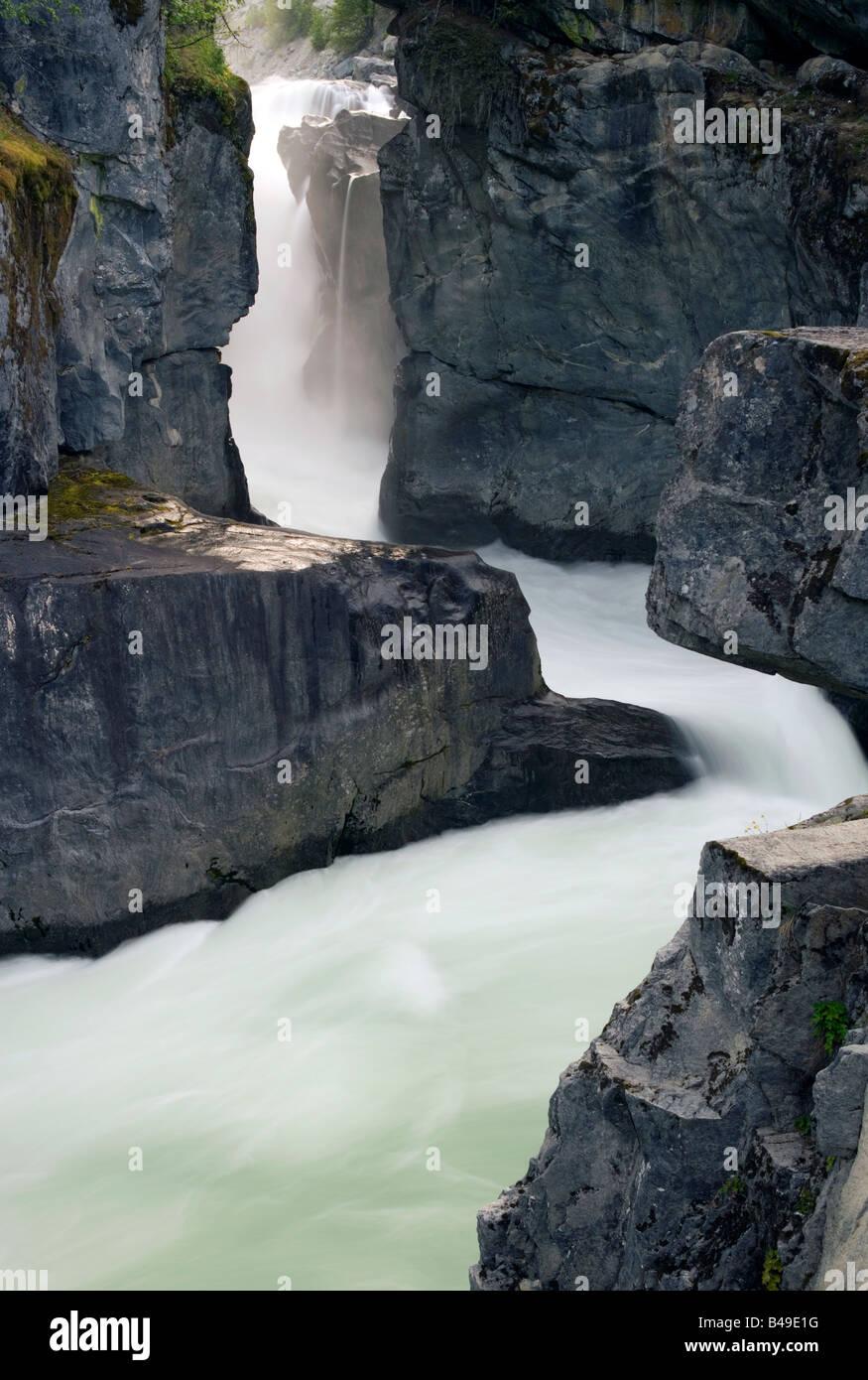 Nairn Falls in Pemberton, British Columbia, Canada. - Stock Image