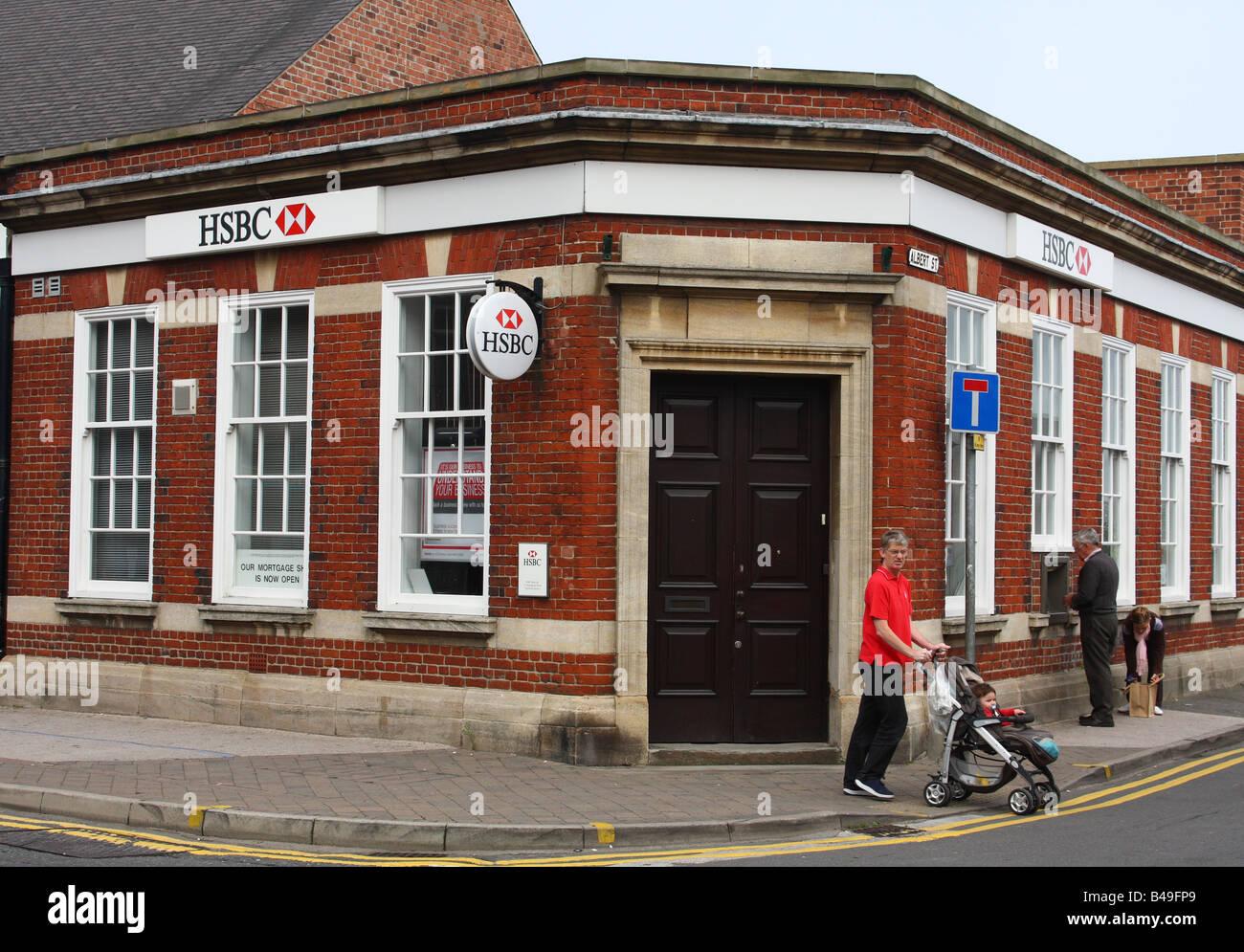 HSBC Bank, Eastwood, Nottinghamshire, England, U.K. - Stock Image