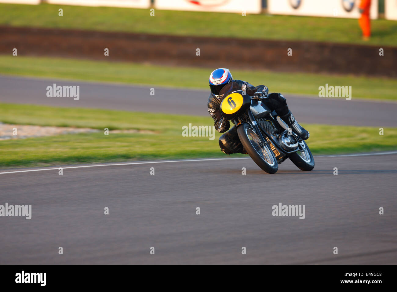 BSA Gold Star ridden by Steve Parrish at Goodwood revival meeting - Stock Image
