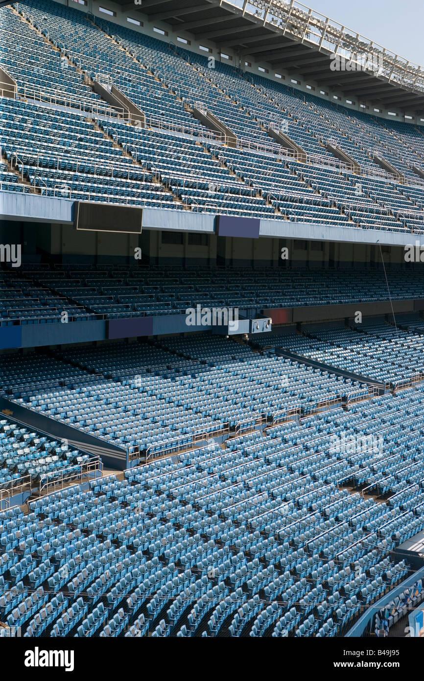 Empty Yankee Stadium in 2008 it s last year of use - Stock Image